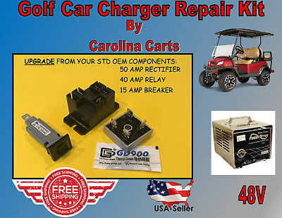 50AMP UPGRADE GOLF Battery Charger Repair Kit Club Car 48 Volt PowerDrive2 22110