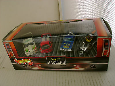 Hot Wheels Special Edition Hot Haulers 4 Car Set New In Box