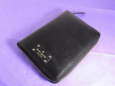 No Inserts  Kate Spade Black Leather Planner    Nwt  No Inserts