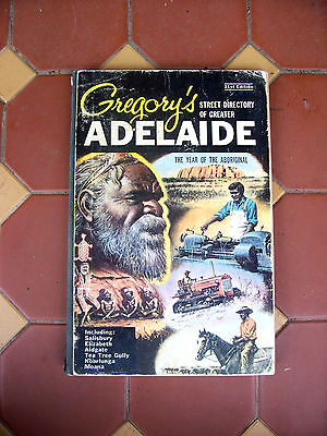 VINTAGE  GREGORYS ADELAIDE STEET DIRECTORY 21st Edtn THE YEAR OF THE ABORIGINAL