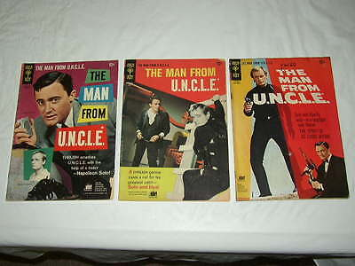 MAN from UNCLE - Lot of 3 (Gold Key) # 4 7 & 9