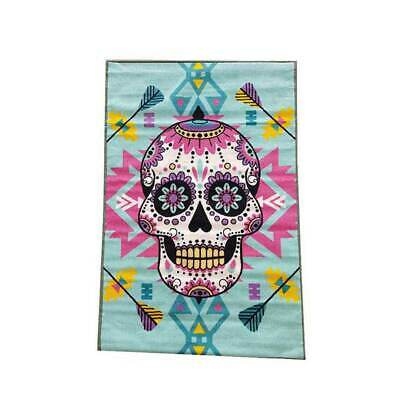 New Children's Rug Sugar Skull Hot Pink 100x 150cm Mat Floor Day of the Dead