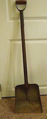 Antique Wood and Steel Shovel W/ Handle