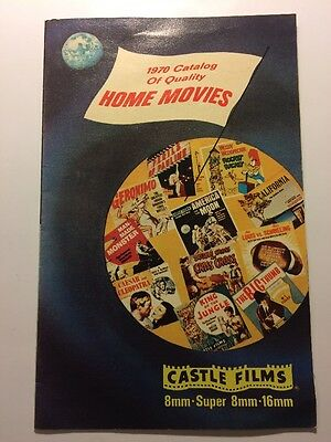1970 Castle Films Catalog Vintage Quality Home Movies Universal Monsters + 8mm