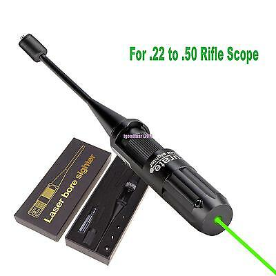 Green Laser Bore Sight Collimator Boresighter for .22 to .50 Rifle Scope