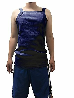 G UNIT Square Cut Ribbed Tank Top Undershirt Wife Beater Mens Cotton Navy L
