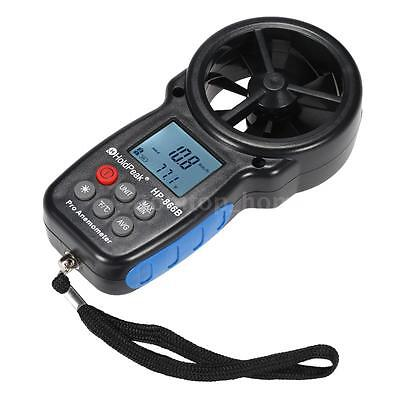 Portable Digital Anemometer Wind Speed Air Temperature Tester with LCD Display