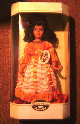 """Genuine Porcelain Doll -  """"Luciana"""" by COLLECTIBLE MEMORIES_Stand included"""