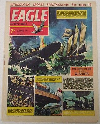 EAGLE Comic Vol.17 # 11 Dated Mar.1966. Cutaway of Floating Dock for Submarines