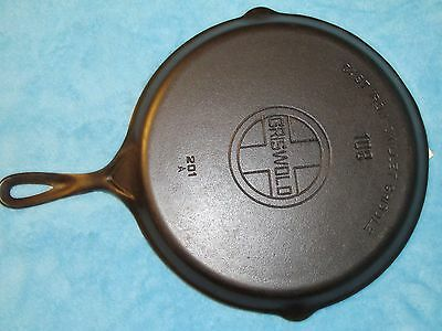 Griswold Cast Iron #108 Skillet Griddle with Large Block Logo PN 201A –Very Nice
