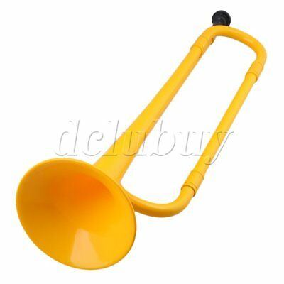 Yellow ABS Plastic 45cmx11cm Bb Trumpet with Bugle Mouth