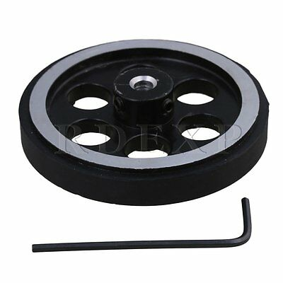 200mm Aluminum Rubber Meter Encoder Wheel for Rotary Encoder 5mm Bore