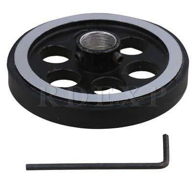 200mm Aluminum Rubber Meter Encoder Wheel for Rotary Encoder 12mm Bore
