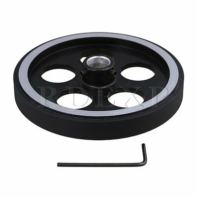 300mm Aluminum Rubber Meter Encoder Wheel for Rotary Encoder 12mm Bore