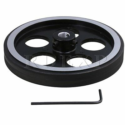 300mm Aluminum Rubber Meter Encoder Wheel for Rotary Encoder 8mm Bore
