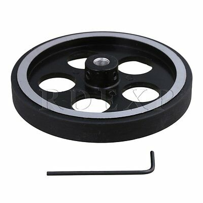 300mm Aluminum Rubber Meter Encoder Wheel for Rotary Encoder 7mm Bore