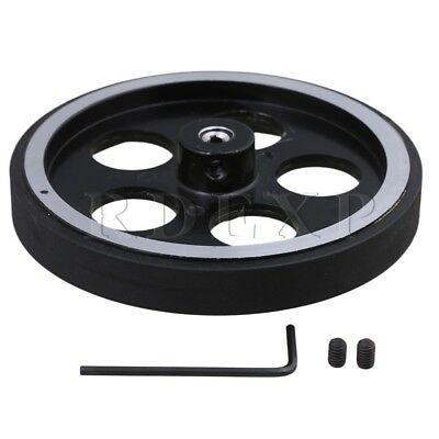 300mm Aluminum Rubber Meter Encoder Wheel for Rotary Encoder 4mm Bore
