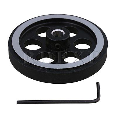 200mm Aluminum Rubber Meter Encoder Wheel for Rotary Encoder 7mm Bore