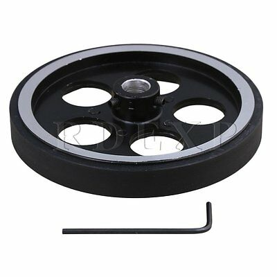 300mm Aluminum Rubber Meter Encoder Wheel for Rotary Encoder 10mm Bore