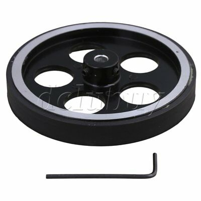 300mm Aluminum Rubber Meter Encoder Wheel for Rotary Encoder 6mm Bore