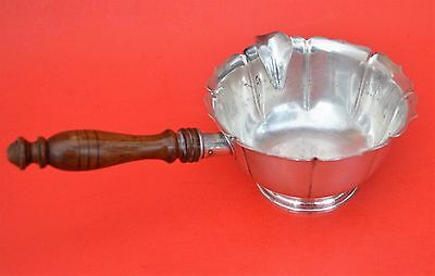 Vintage Lunt Sterling Silver Early Dublin Design Sauce Gravy Boat Wood Handle
