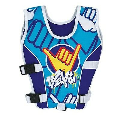 New Wahu Swim Vest Child Medium 15-25Kg Blue Bma200