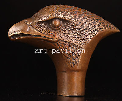 Bronze Figurines Eagle  Cane Walking Stick Head Handle Statue Collectable