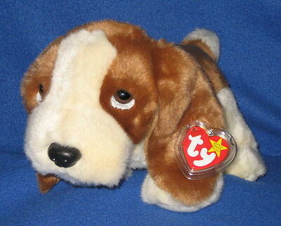 TY TRACKER the BASSET HOUND BEANIE BUDDY - MINT with TAG - SEE PICS
