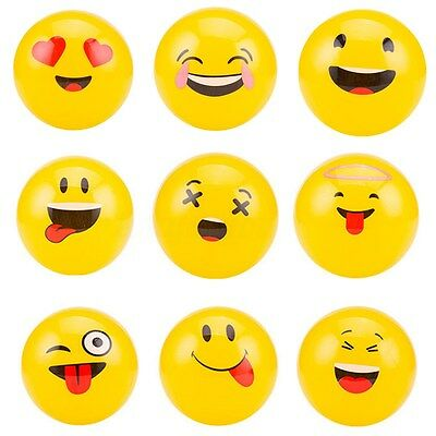 10x Inflatable Emoji Beach Balls Soft Ball Kids&Adult Water Play Pool Party Toys