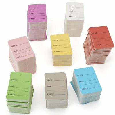 1000x Clothing Price Tags Mix Colors Perforated Sale Tags Pack Paper Metronic