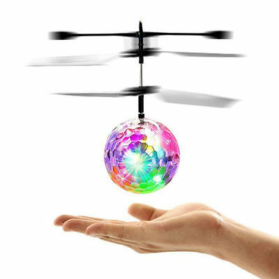 Magic Electric Flying Ball Helicopter w/ LED Light Infrared Sensor Toy Kids Gift