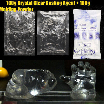 Crystal Clear Casting Agent Kits Foot Print Moulding Powder 3D Hand Pigment  DIY