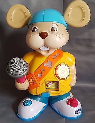 Chicco DJ Rapper Mouse, DJ Topo Rap, Light Up Musical Activity Baby Toy, Italian