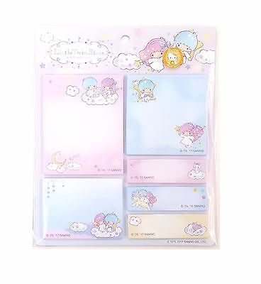 Sanrio Little Twin Stars Sticky Note Pad Set (170455-00) Registered Shipping