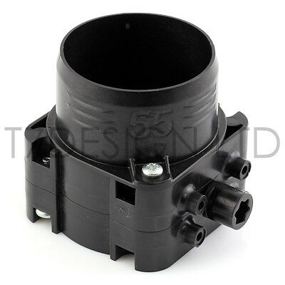∅ 55mm Piggyback HVAC Butterfly Air Valve / Junction, Heater, AC, Ducted
