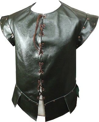 Italian Leather & Copper Medieval Jerkin Vest LARP MADE TO ORDER Choose Colour