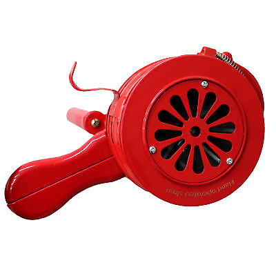 NEW! Hand Operated Crank Air Raid Safety Siren Fire Emergency Alarm