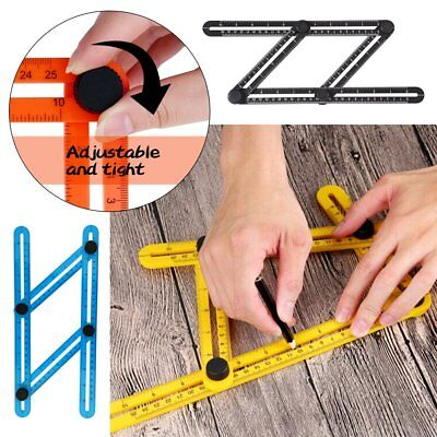 Angle-izer Four 4-Sided Ruler Multi-Angle Slide Template Measuring Tool Adjust