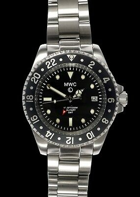MWC GMT Dual Timezone Military Watch Stainless Steel  Bracelet 300M New Boxed