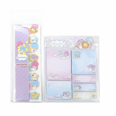 Sanrio Little Twin Stars Sticky Index Note Pad & Note Pad Set Registered Ship