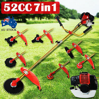 52Cc 7 In 1 Brushcutter Line Trimmer Whipper Snipper Brush Cutter Head Blade