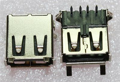 USB Type A PCB Mounted Socket (Pack of 2)
