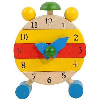 Hand Made Wooden Disassembly Clock Toys for Kids Learn Time Clock Educational