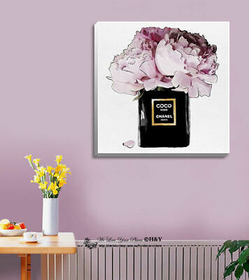 Pot Flowers Fashion Stretched Canvas Print Framed Wall Art Home Decor Painting