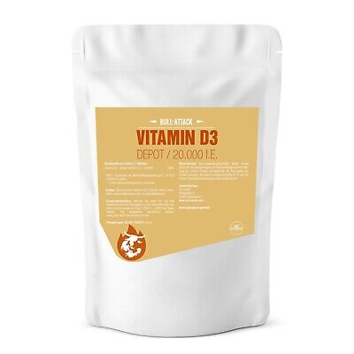 VITAMIN D3 DEPOT - 20000 I.E. 360 Tabletten - Ultra Stark - Vitamin D-3 Vegan