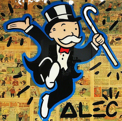 Alec Monopoly Newspaper Oil Painting on Canvas Urban art Wall Decor Park Place