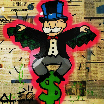 Alec Monopoly Oil Painting on Canvas Graffiti art Wall Decor The Batman