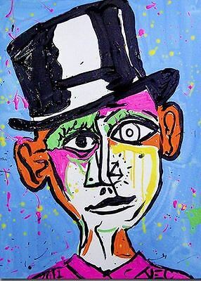 Alec Monopoly Oil painting on Canvas Graffiti art wall decor Picasso 24x32""