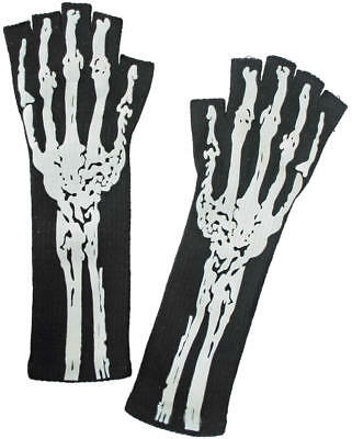 Handschuhe Day of the Dead Skelett Horror Halloween Karneval Fasching Kostüm