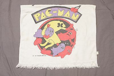 Vintage Pac Man & Ghosts Towel 80's 1980's Made In USA Video Game arcade